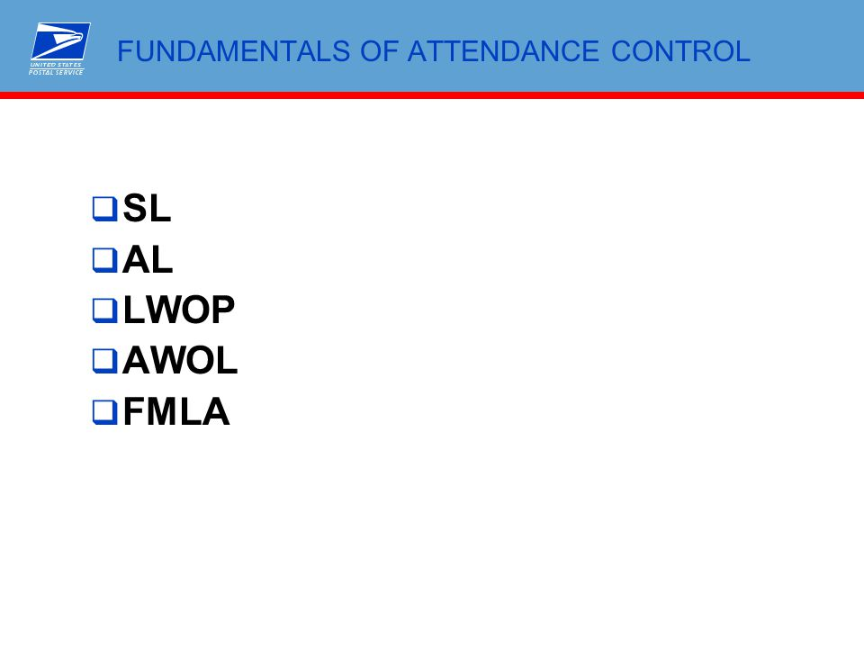 fundamentals of attendance control ppt download