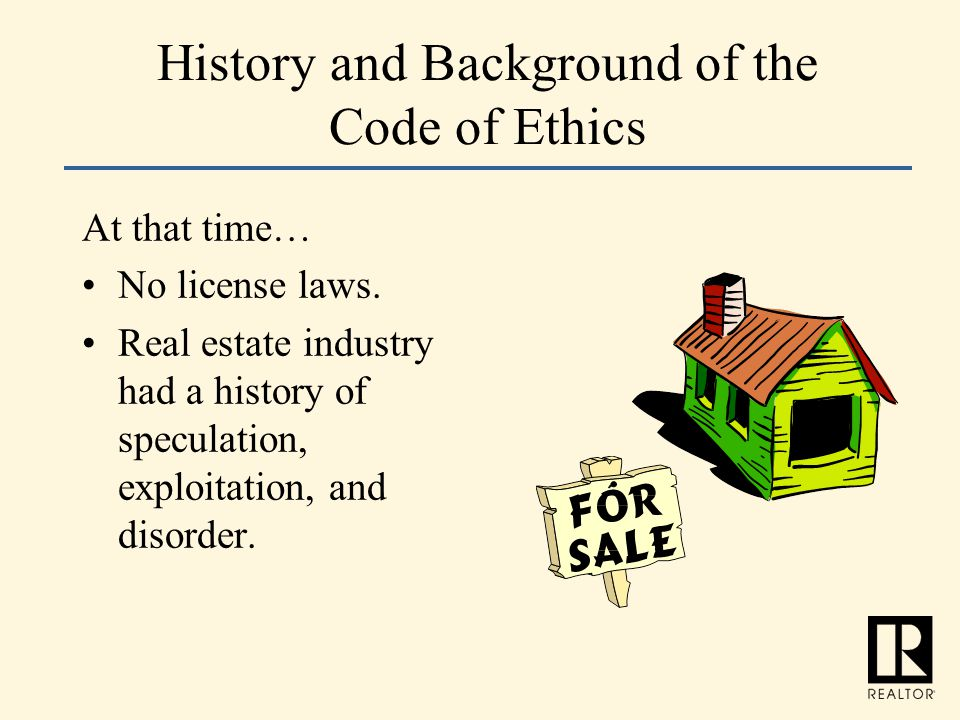 History and Background of the Code of Ethics