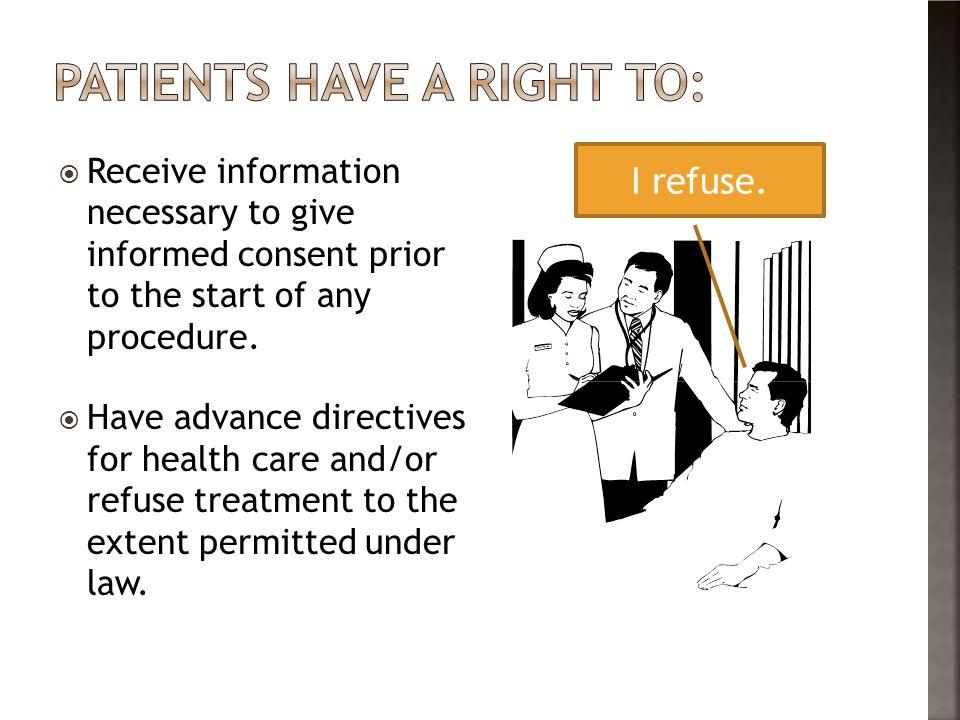 Patients have a right to: