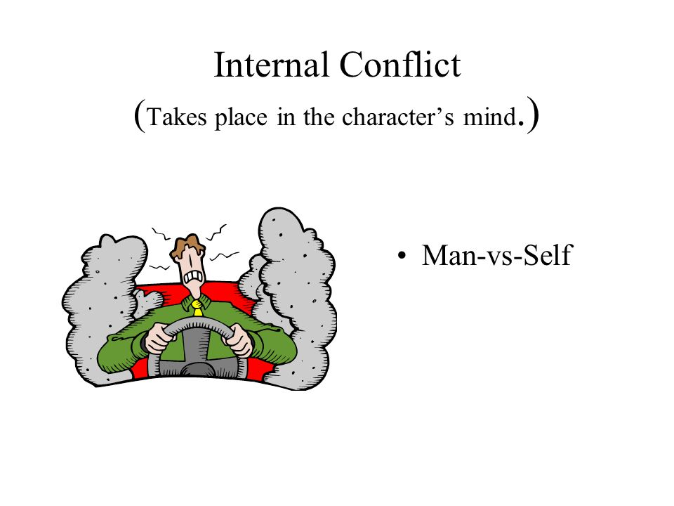 Internal Conflict (Takes place in the character's mind.)