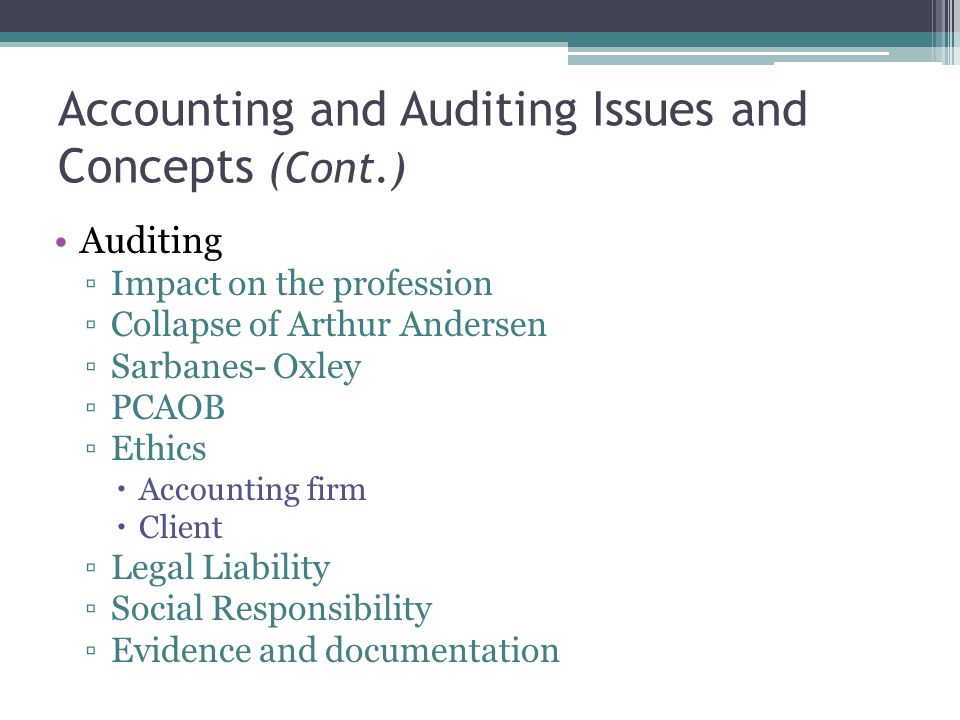 arthur andersen ethical issues