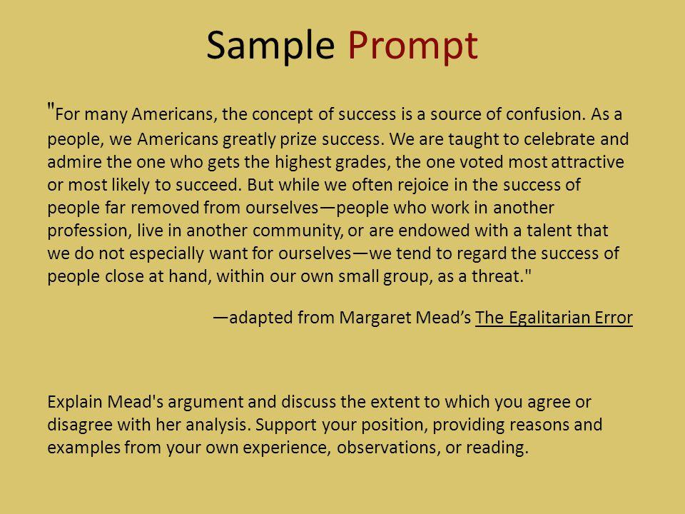 The egalitarian error margaret mead essay the effects of homework on children