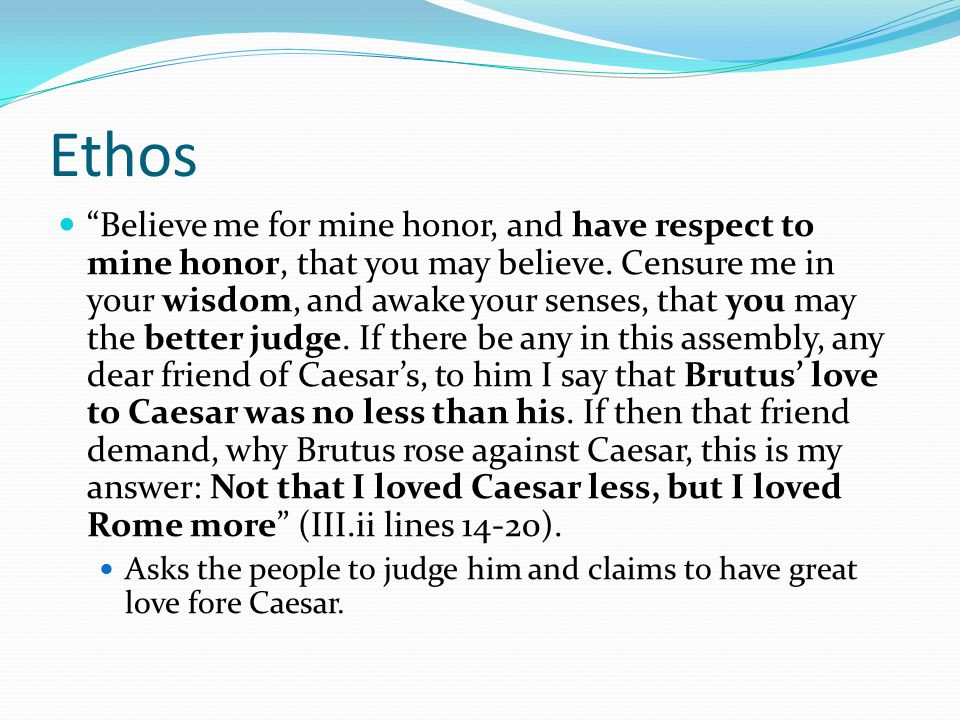 mark antony eulogy
