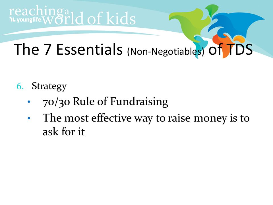 Reaching More Kids by Taking Donors Seriously™ TDS ppt download
