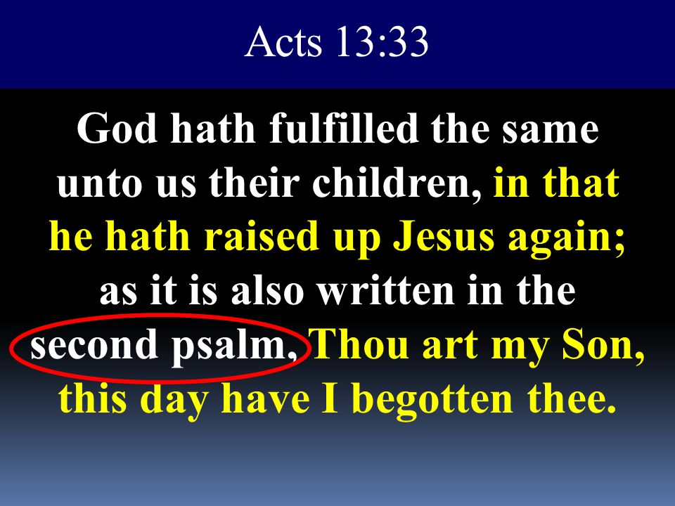Acts 13:33