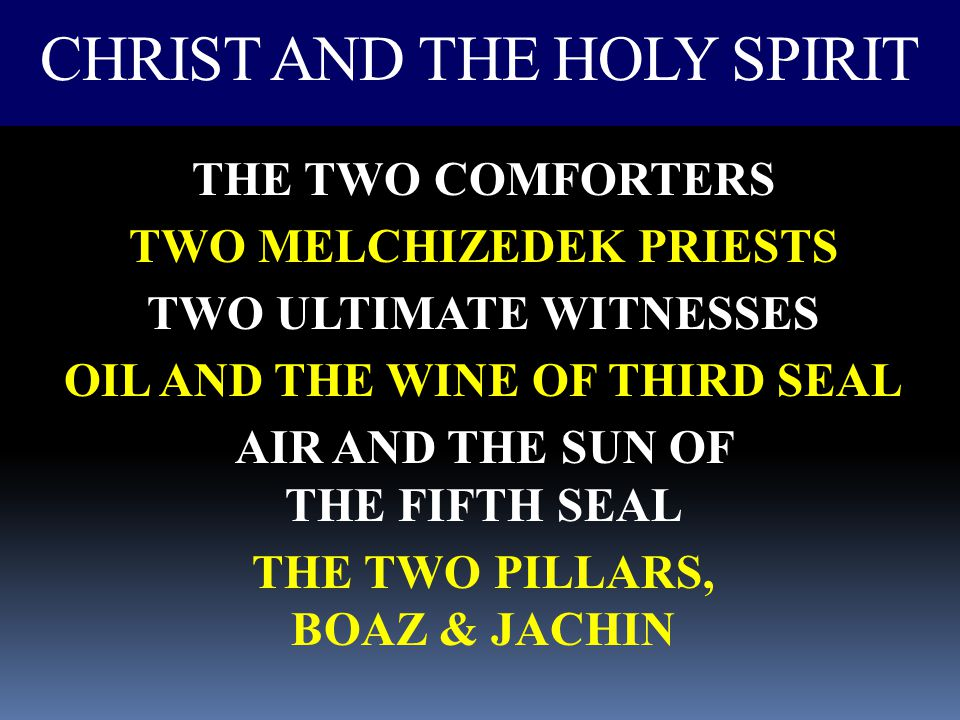 CHRIST AND THE HOLY SPIRIT