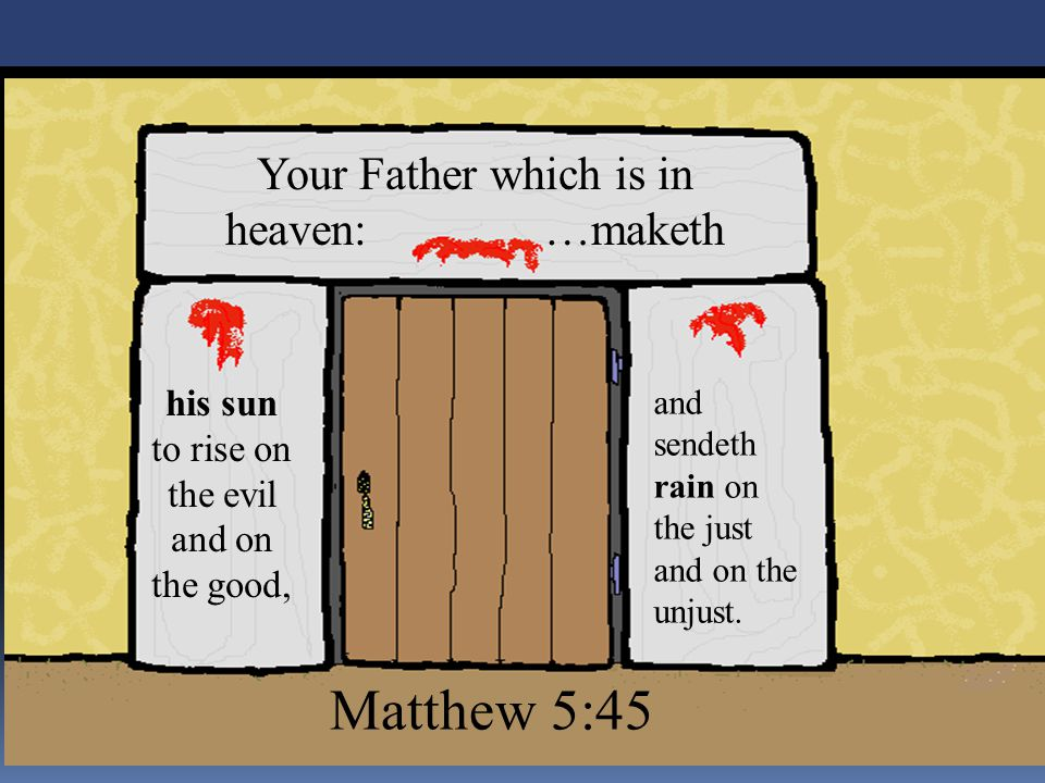 Matthew 5:45 Your Father which is in heaven: …maketh