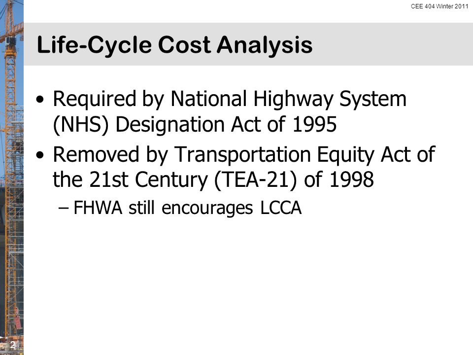 Life Cycle Cost Analysis Ppt Download
