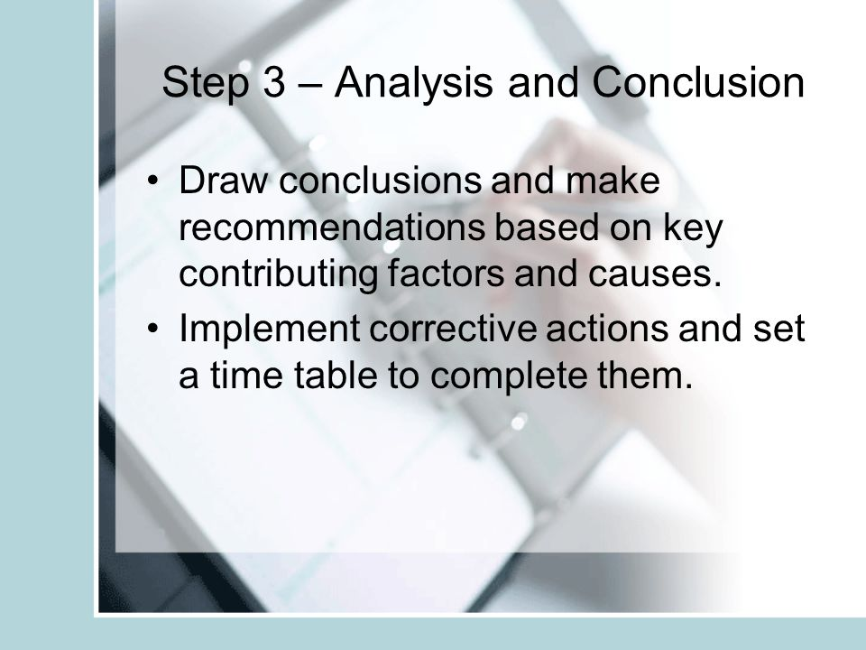 Step 3 – Analysis and Conclusion