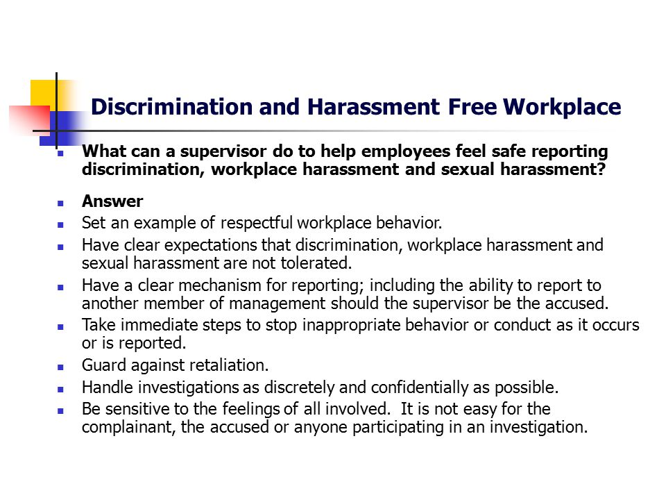 Respectful workplace guidelines for sexual harassment