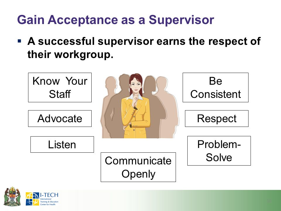 Gain Acceptance as a Supervisor