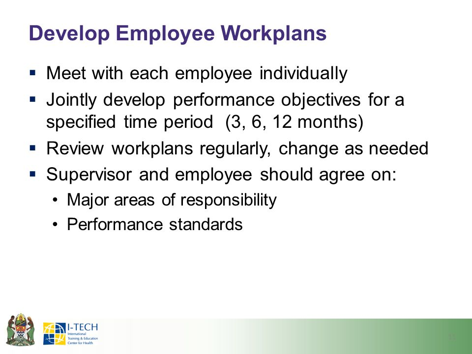 Develop Employee Workplans