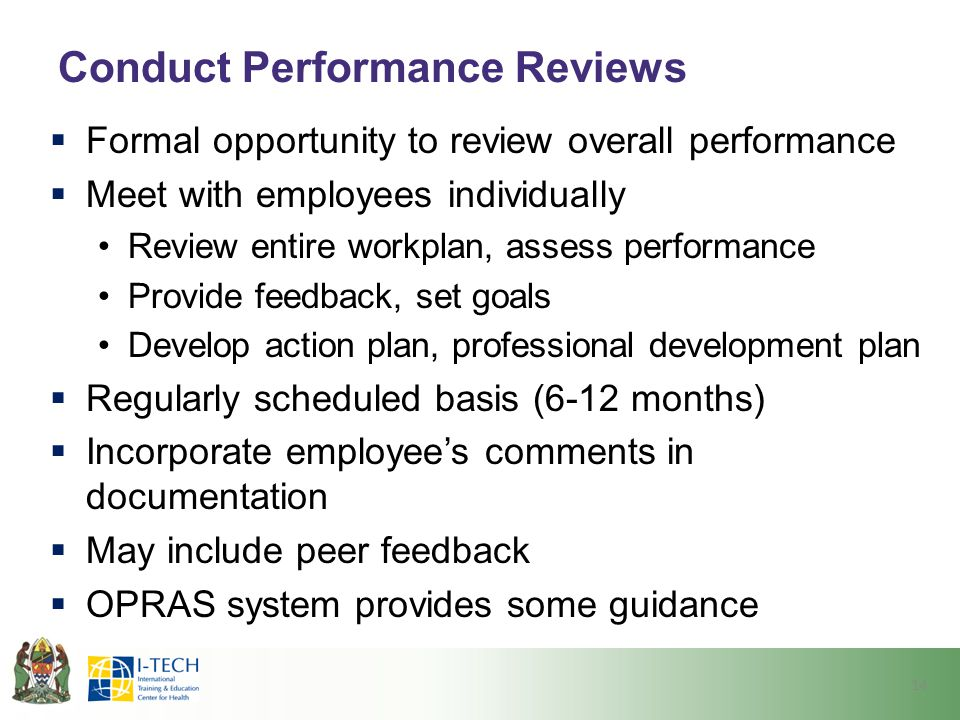Conduct Performance Reviews