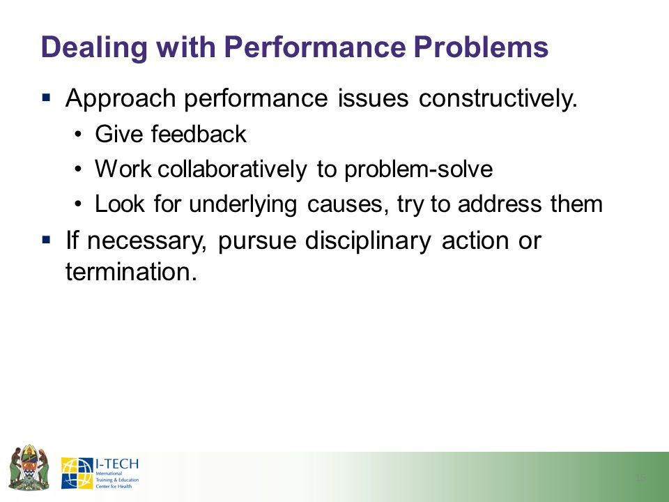 Dealing with Performance Problems