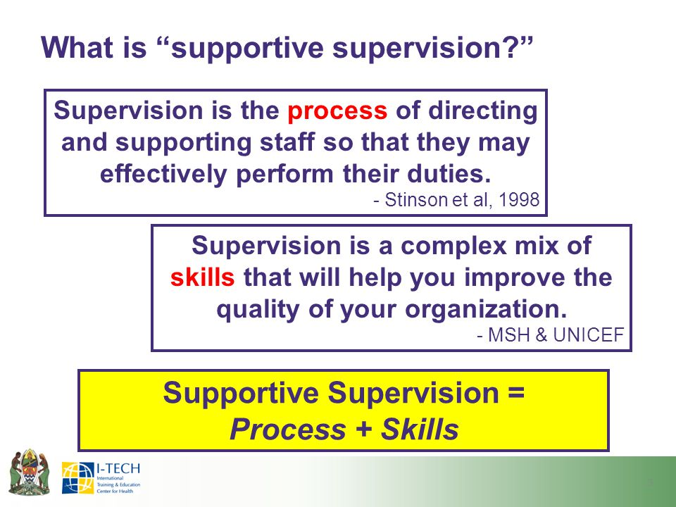 What is supportive supervision