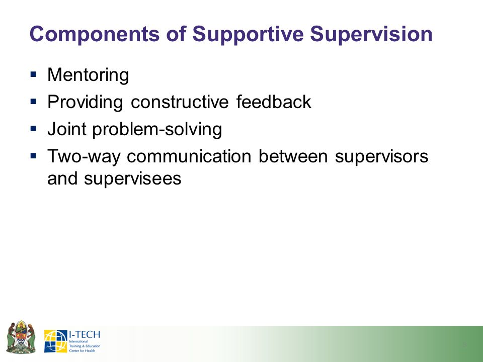 Components of Supportive Supervision
