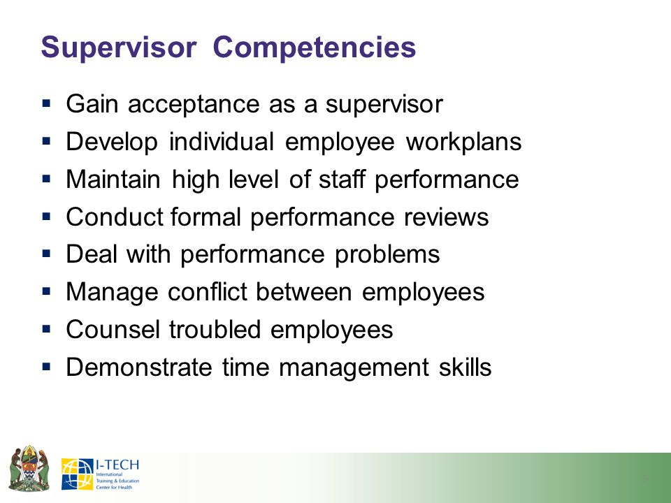 Supervisor Competencies