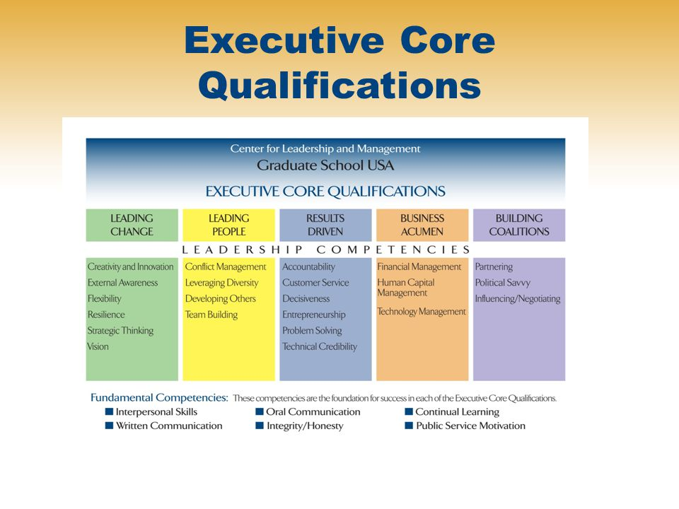 Executive Core Qualifications