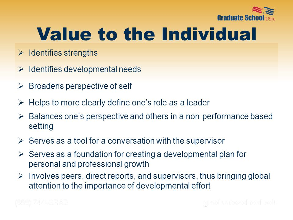 Value to the Individual
