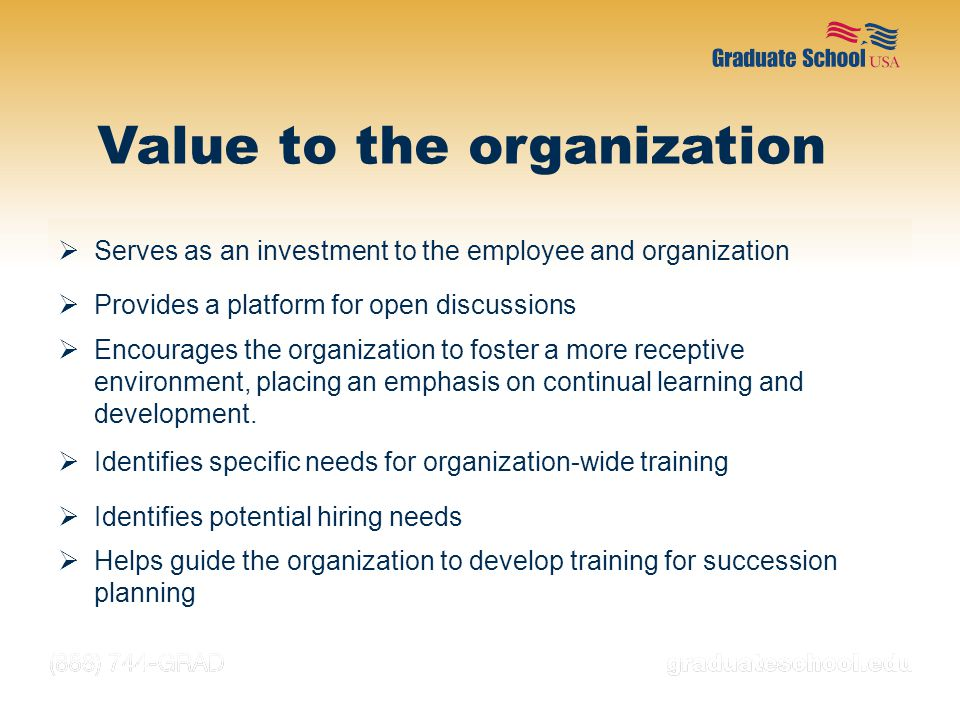 Value to the organization