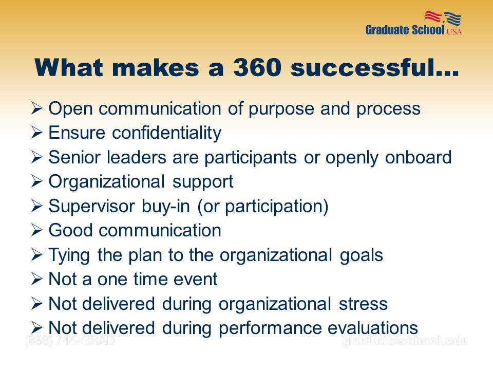 What makes a 360 successful…