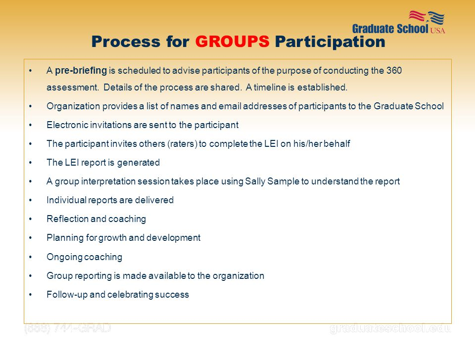 Process for groups Participation