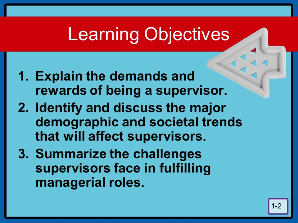 Learning Objectives Explain the demands and rewards of being a supervisor.