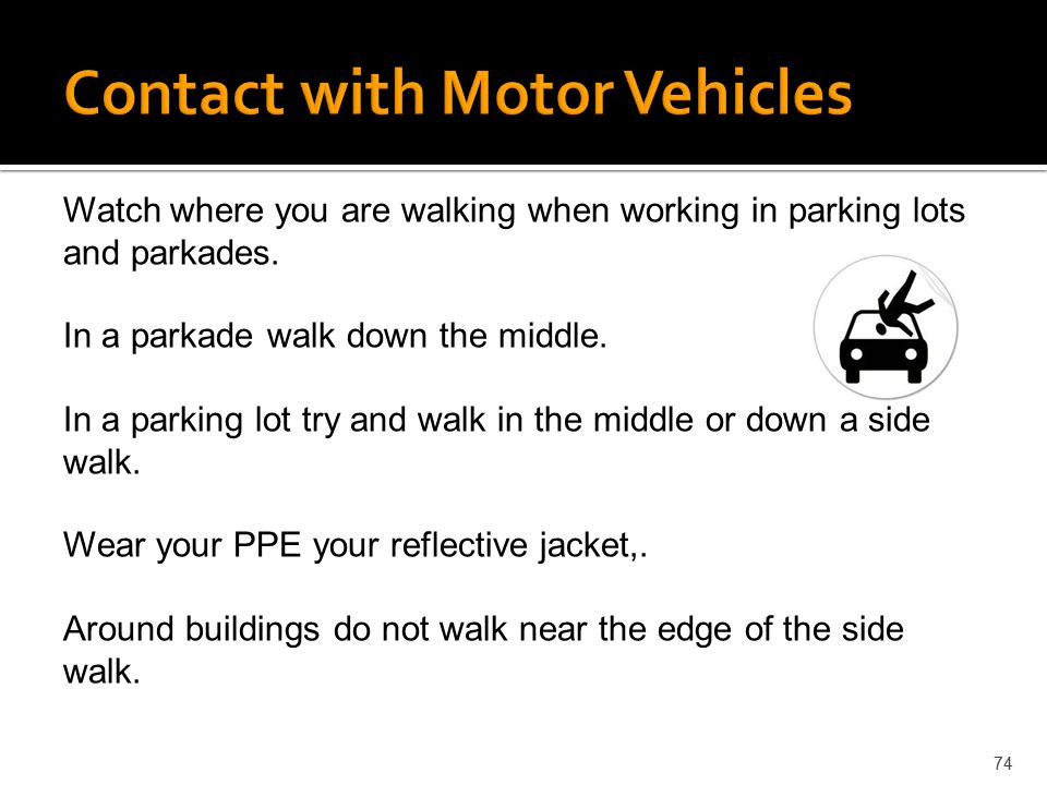 Contact with Motor Vehicles