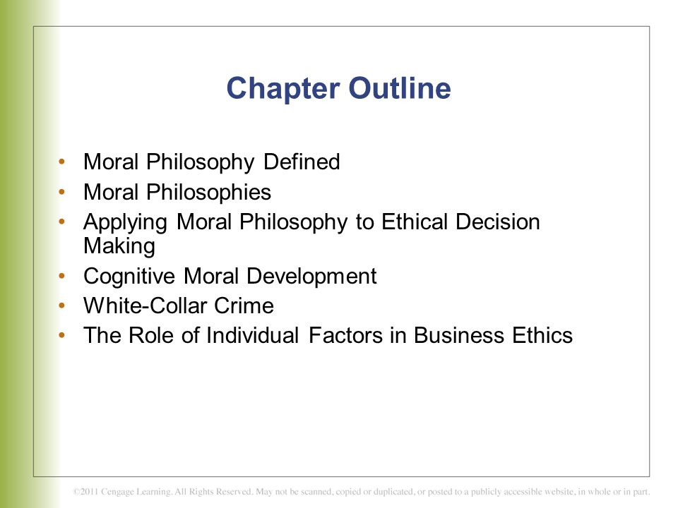 Individual Factors Moral Philosophies And Values Ppt Video Online Download