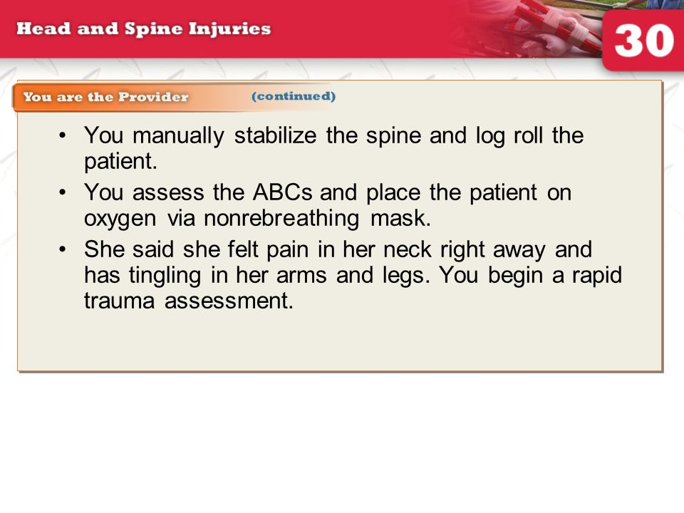 30: Head and Spine Injuries - ppt download
