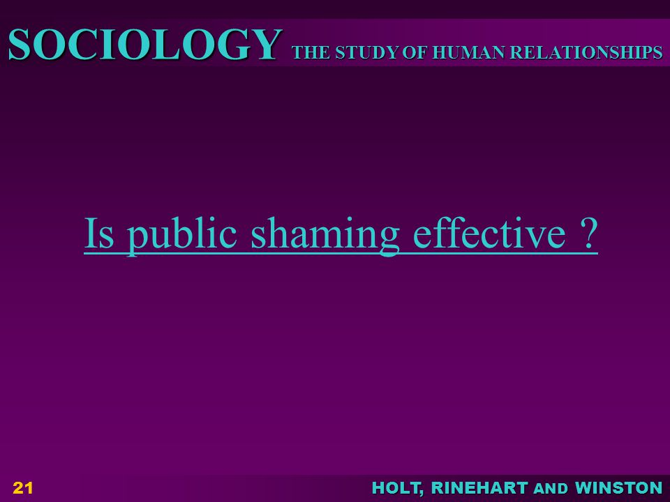 Is public shaming effective