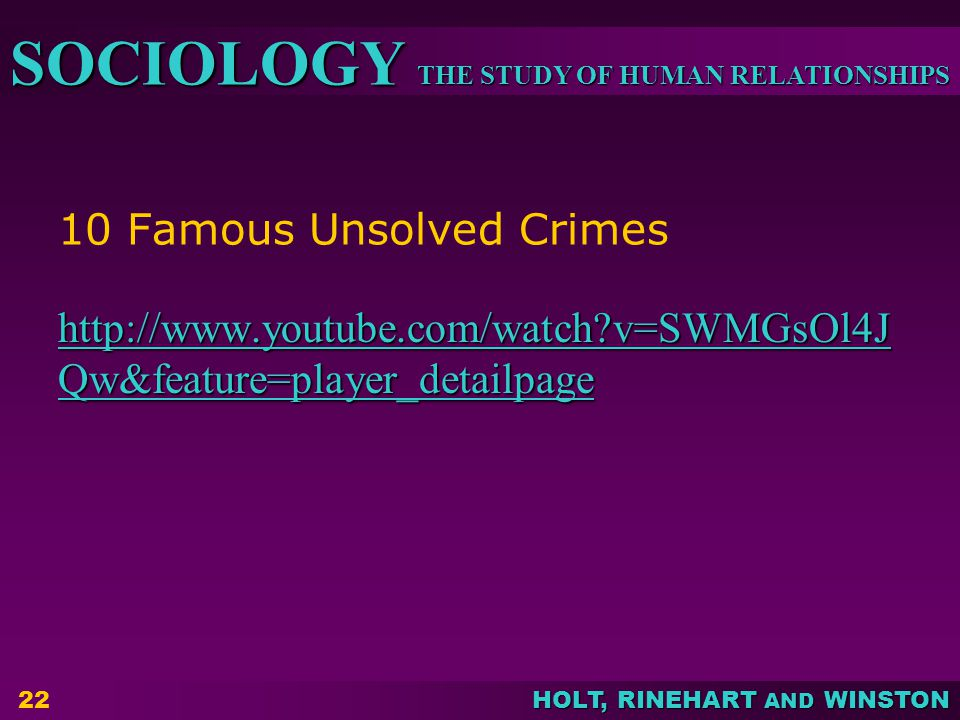 10 Famous Unsolved Crimes