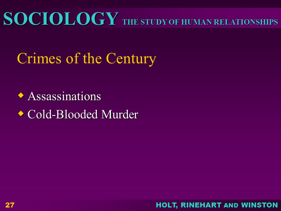 Crimes of the Century Assassinations Cold-Blooded Murder