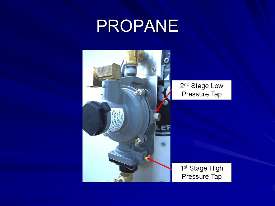 PROPANE 2nd Stage Low Pressure Tap 1st Stage High Pressure Tap