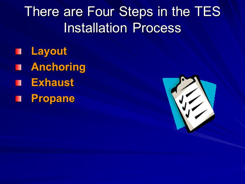 There are Four Steps in the TES Installation Process