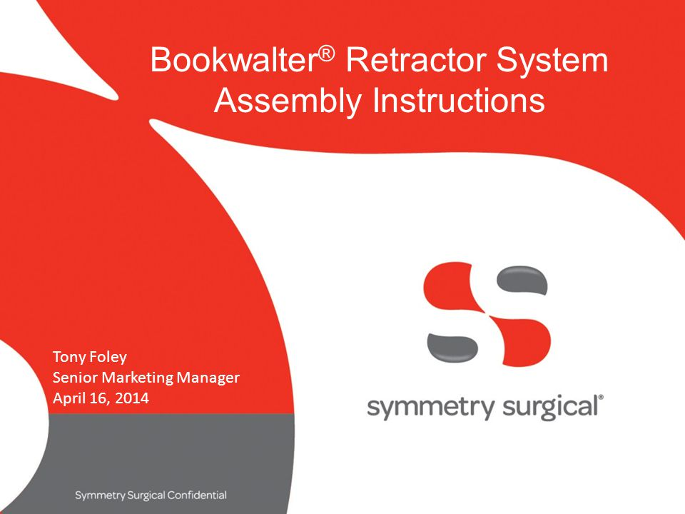 Bookwalter® Retractor System Assembly Instructions