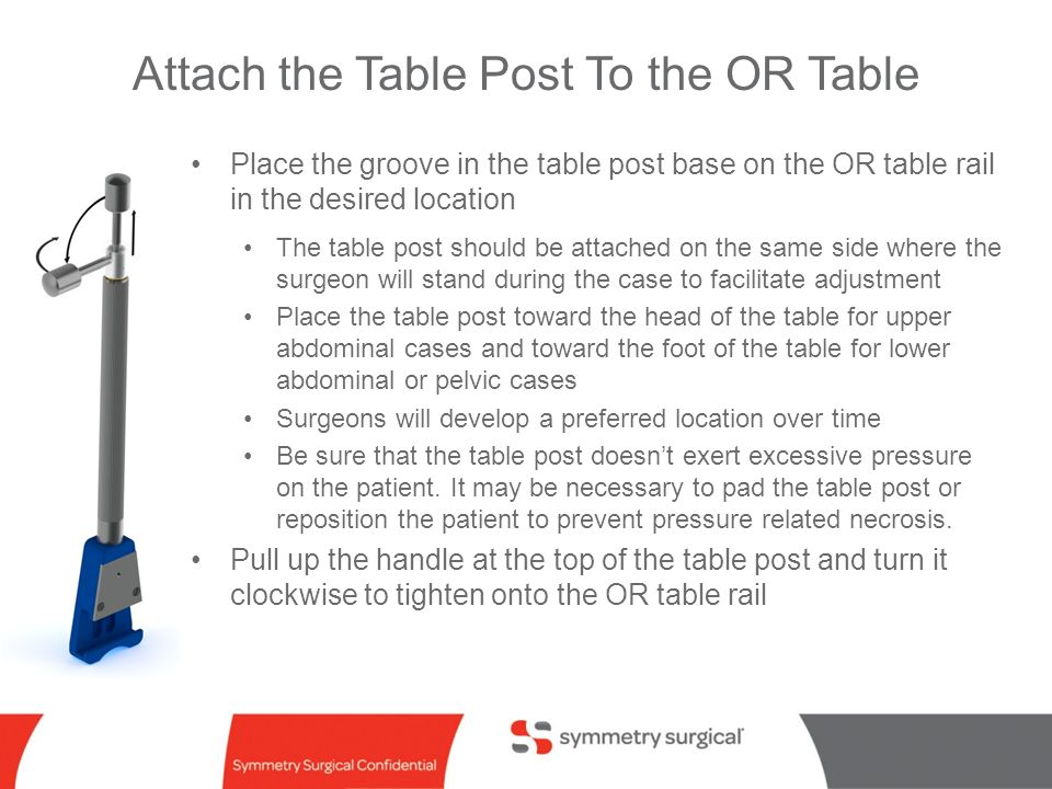 Attach the Table Post To the OR Table