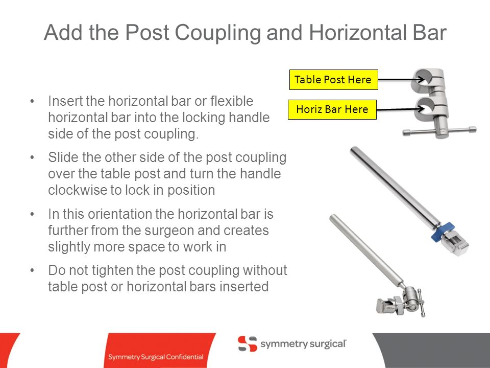 Add the Post Coupling and Horizontal Bar