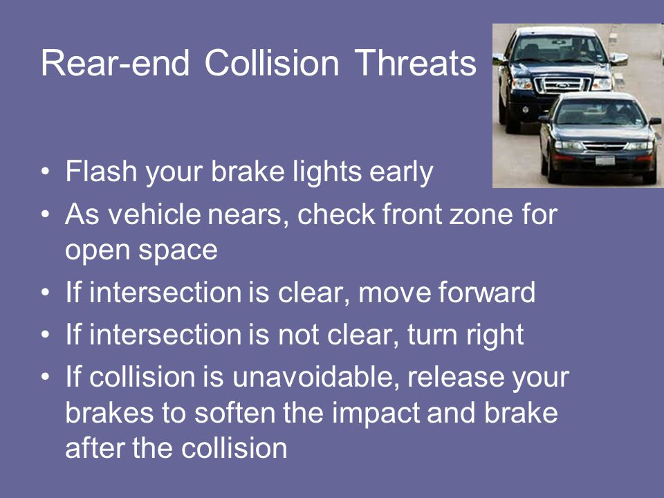 Rear-end Collision Threats
