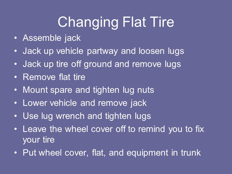 Changing Flat Tire Assemble jack