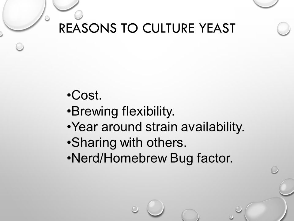 Reasons To Culture Yeast