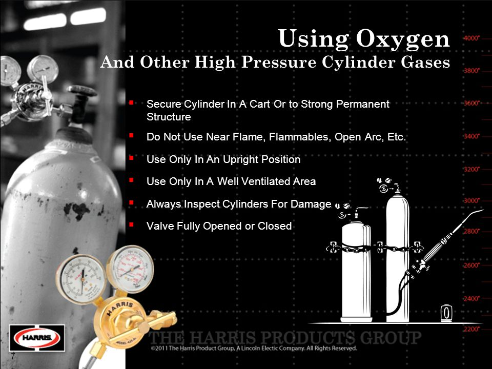 Using Oxygen And Other High Pressure Cylinder Gases