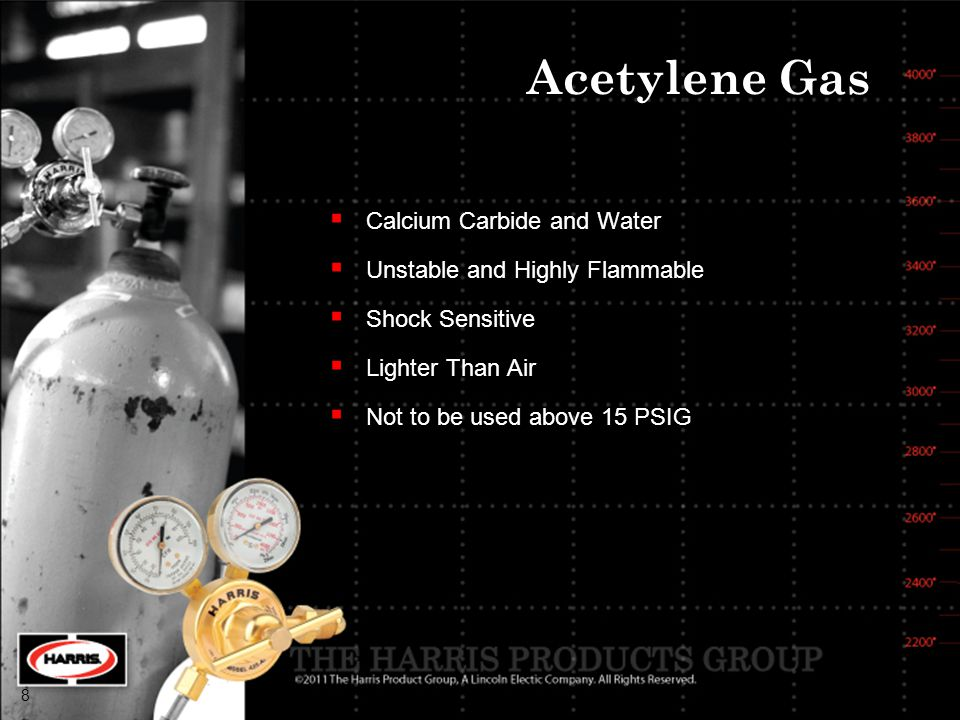 Acetylene Gas Calcium Carbide and Water Unstable and Highly Flammable