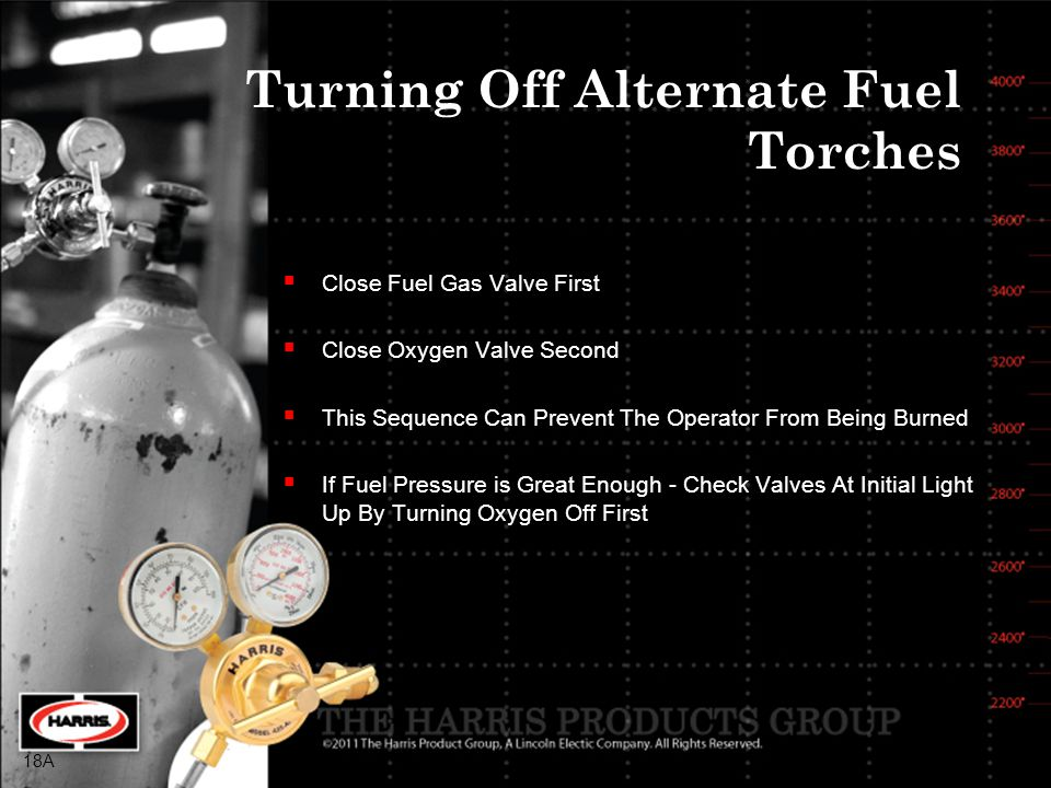 Turning Off Alternate Fuel Torches