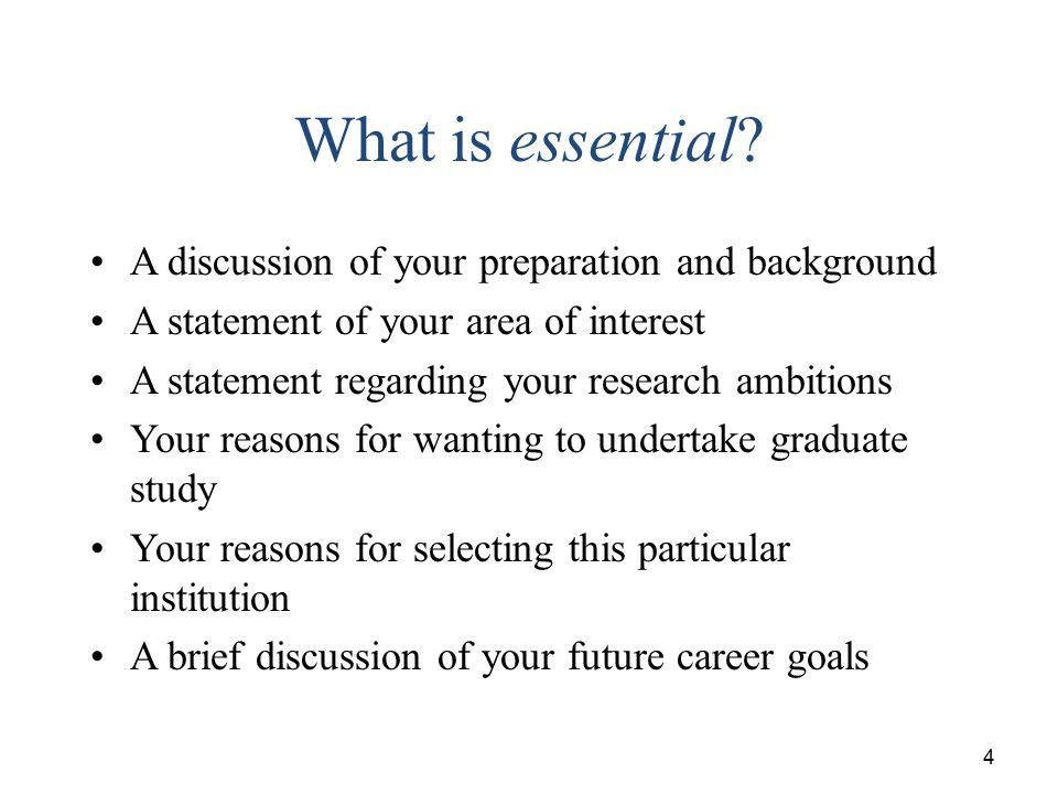 statement of research interests and career goals
