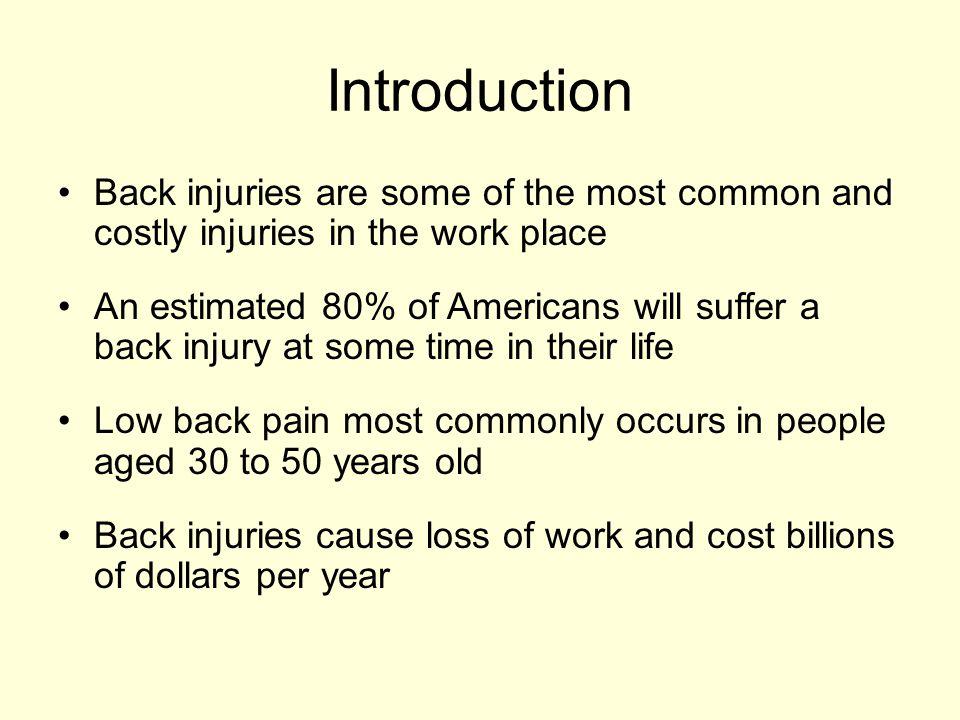 Ergonomics and Back Safety.