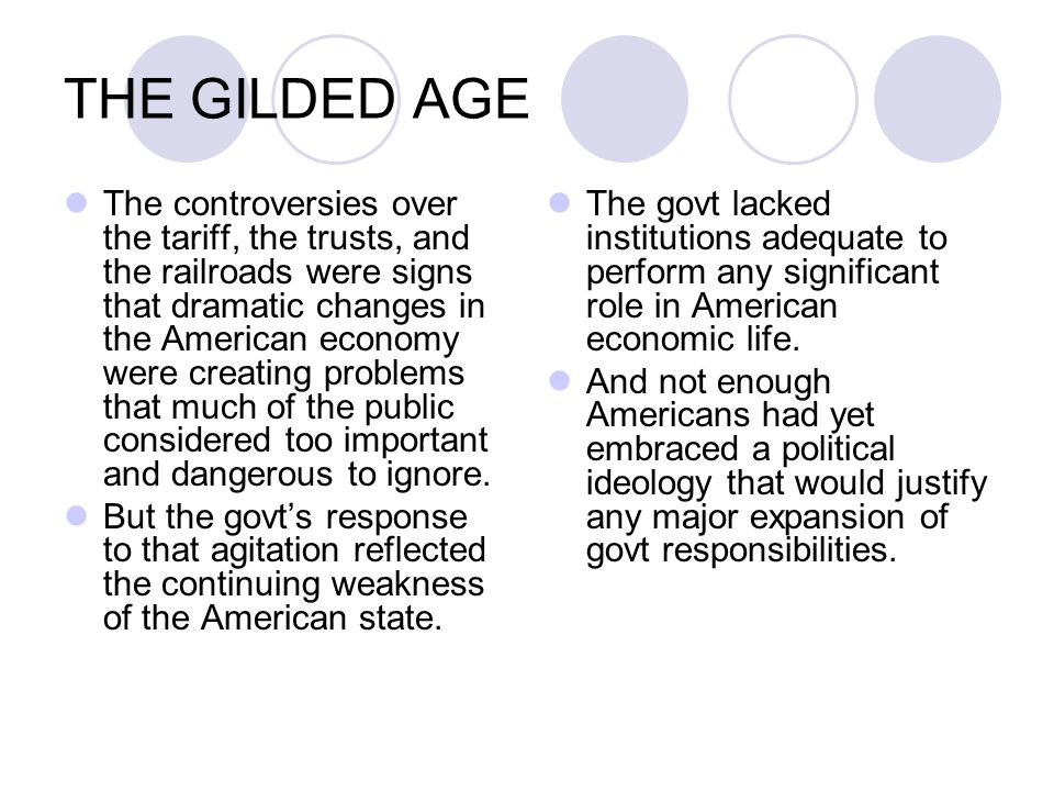 importance of the gilded age