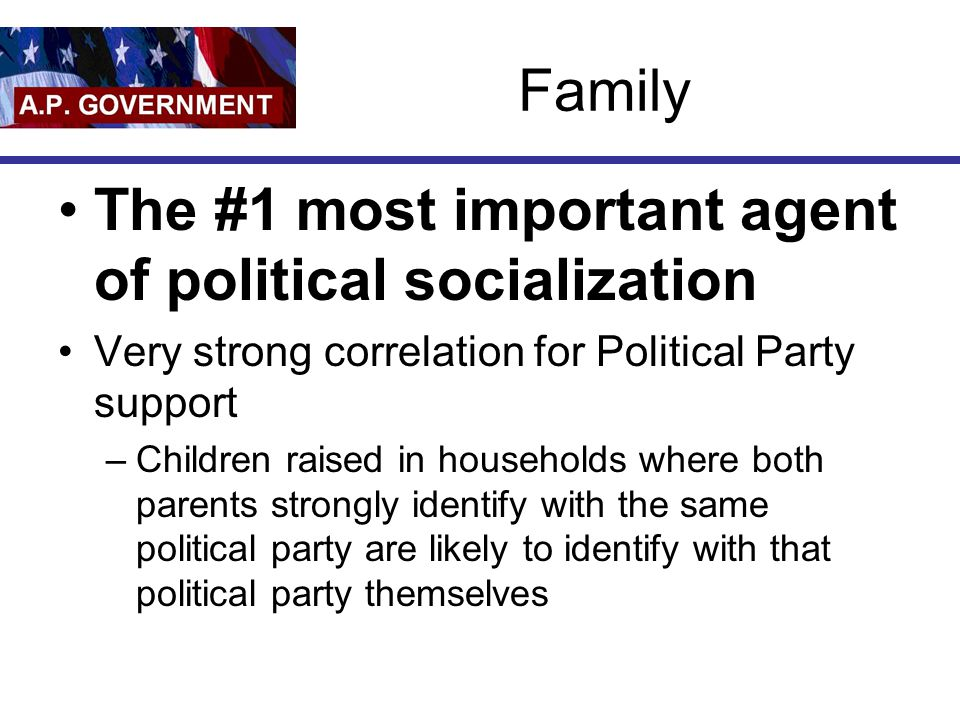 what are the major agents of political socialization