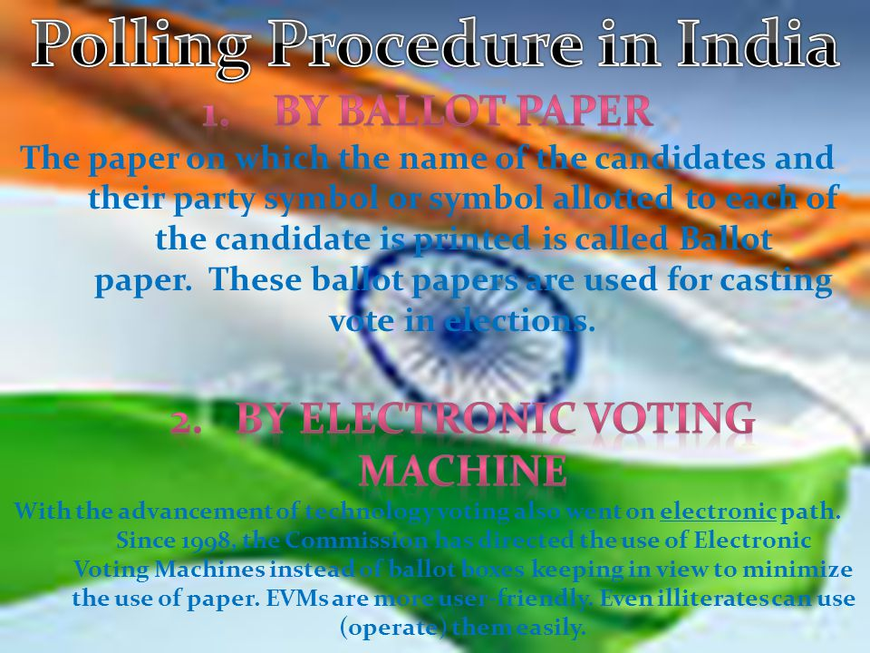 Polling Procedure in India