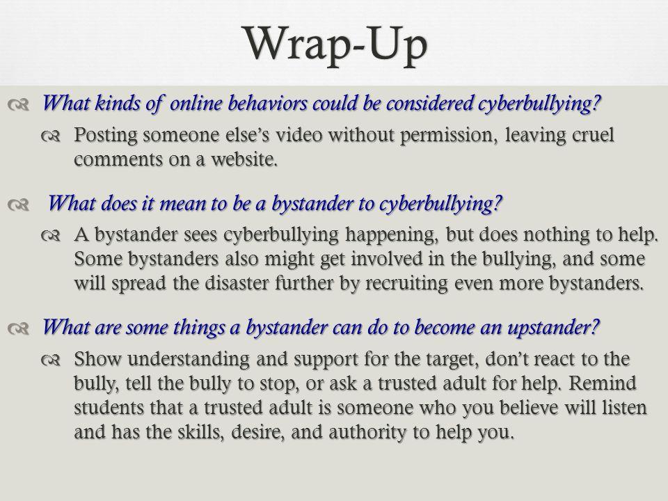 Cyberbullying Script